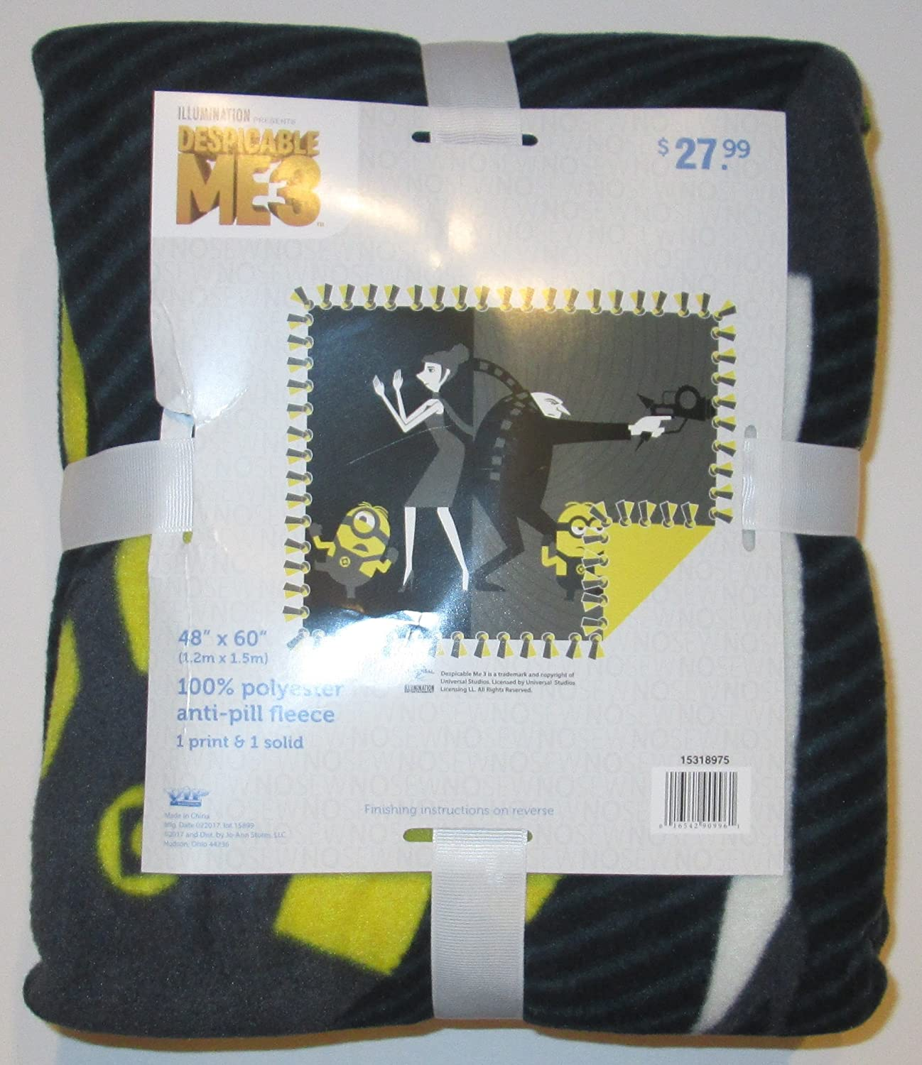 Despicable Me 3 - No Sew Throw Fleece Kit - finished size 43 x 55 VIP