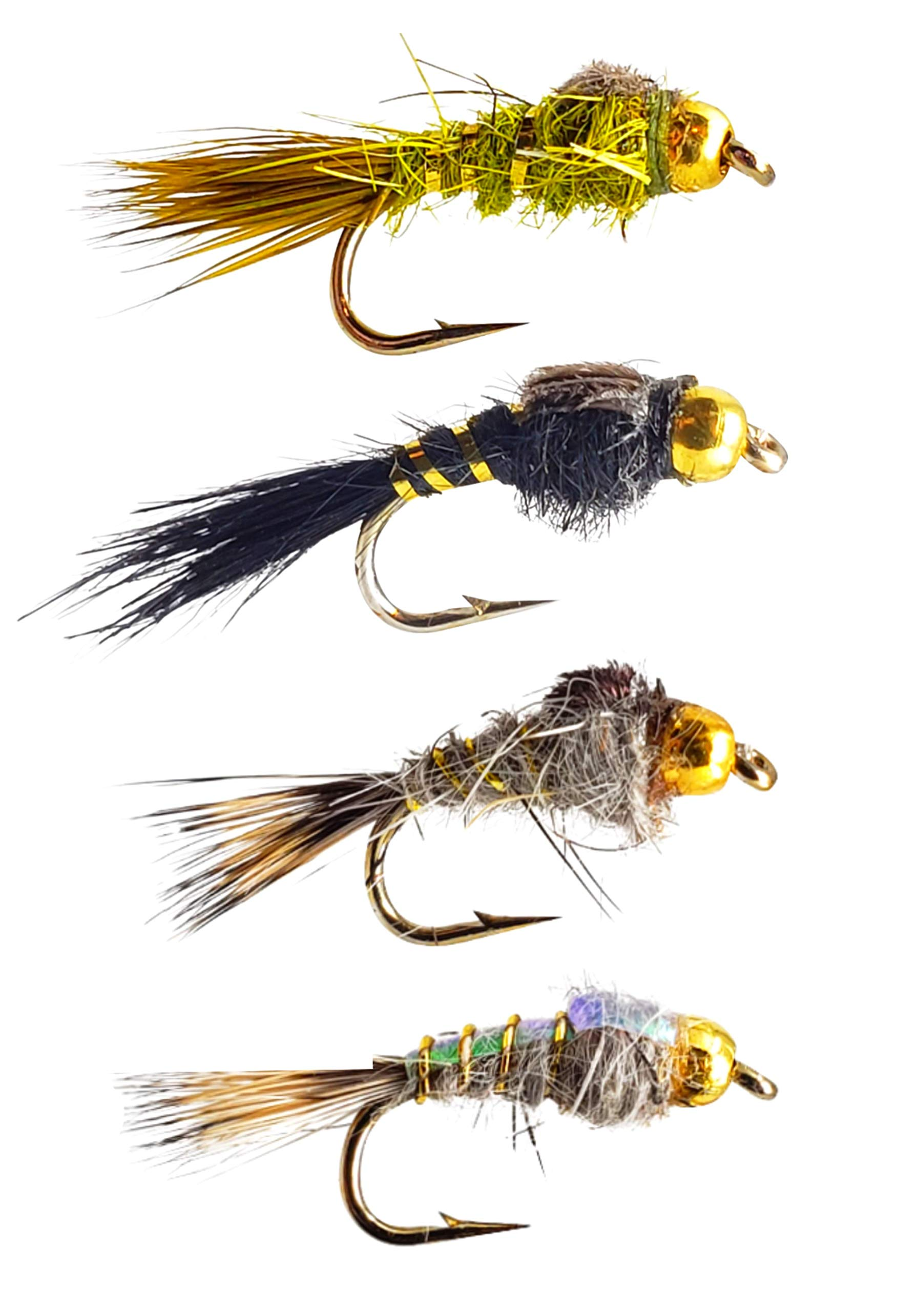 Hare's Ear Nymph Variety Assortment | Fly Fishing for Trout | 8 Flies by The Fly Crate