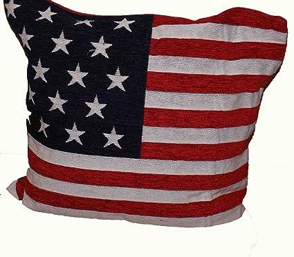 Stars and Stripes - Funda de cojín gruesa bandera americana ...