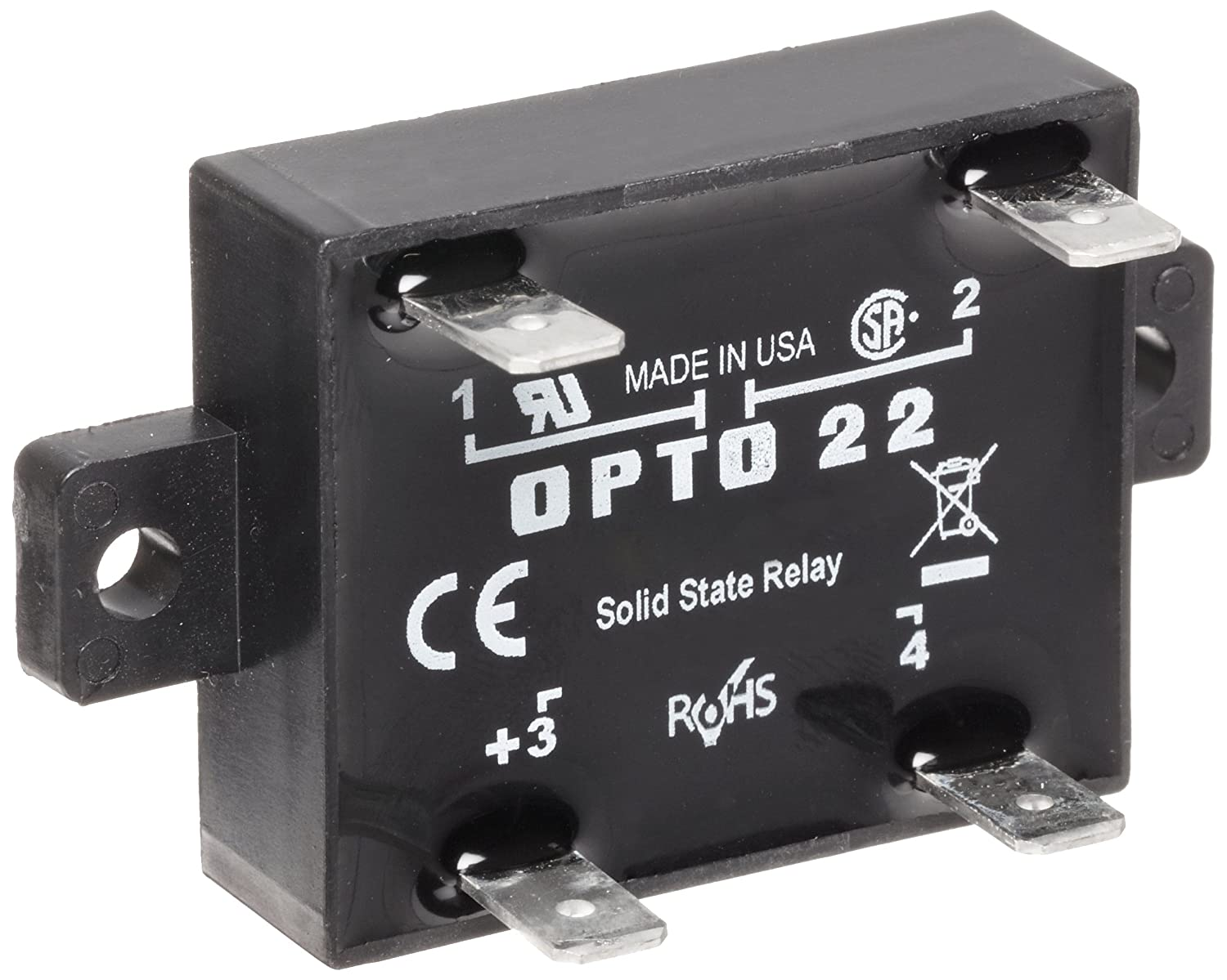 Opto 22 Z240D10 Z Model DC Control Solid State Relay, 240 VAC, 10 Amp:  Electronic Relays: Amazon.com: Industrial & Scientific