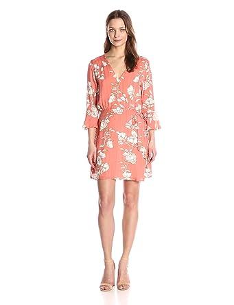 MINKPINK Women's Lovina Wrap Floral Print Dress, Multi, X-Small