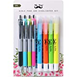 Mr. Pen- Bible Highlighters and Pens No Bleed, 8 Pack, Bible Journaling Kit, Bible Pens No Bleed Through, Gel Highlighters, B
