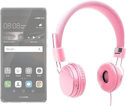 DURAGADGET Auriculares De Diadema En Rosa para Smartphone ...