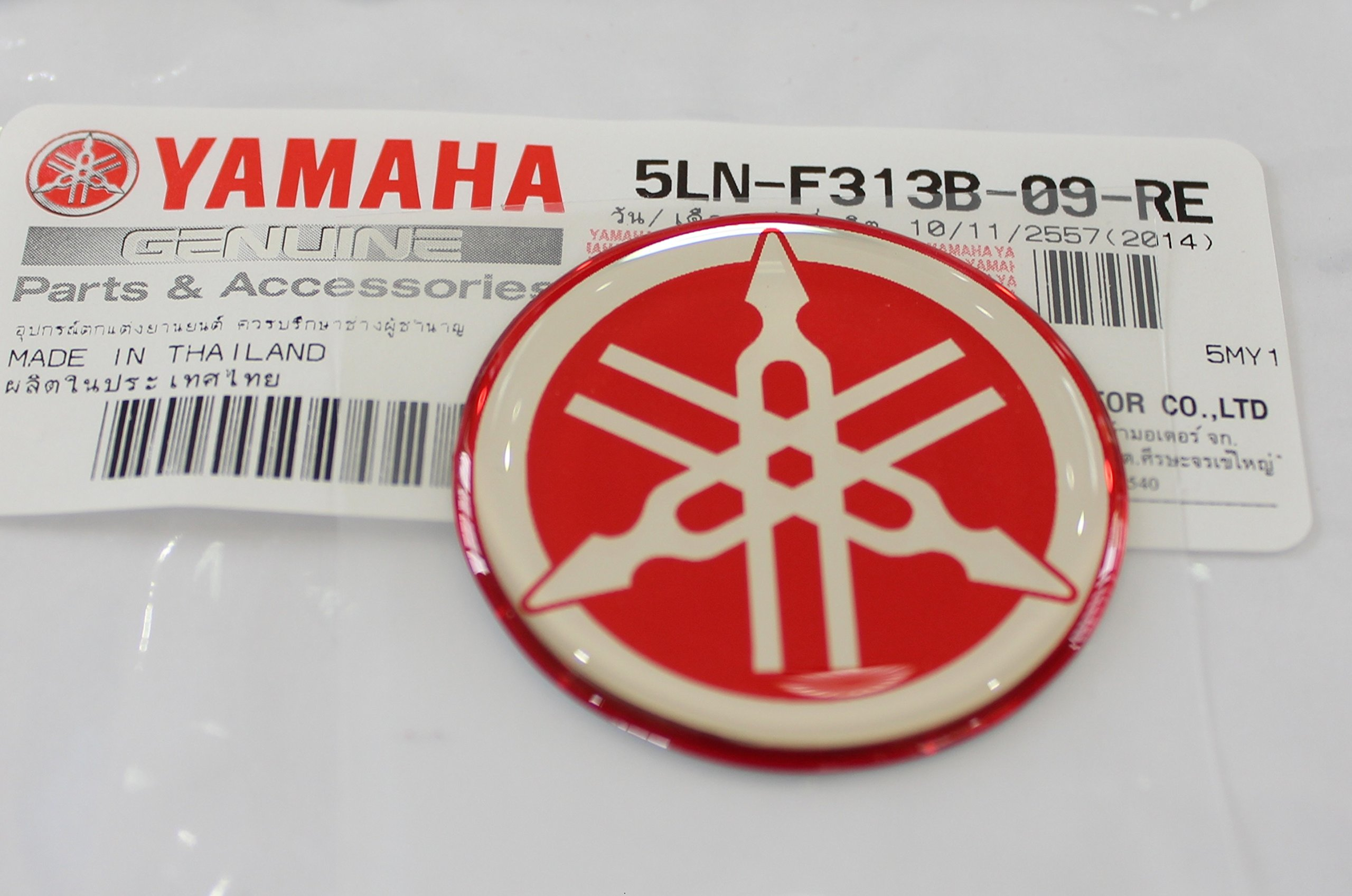 100/% GENUINE 55mm Diameter YAMAHA TUNING FORK Decal Sticker Emblem Logo BLACK Snowmobile Jet Ski ATV SILVER Raised Domed Metal Alloy Construction Self Adhesive Motorcycle