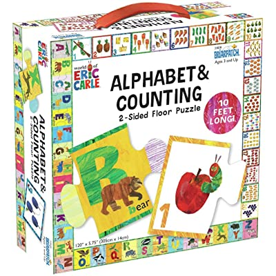 The World of Eric Carle ABC/123 2-Sided Floor Puzzle: Toys & Games