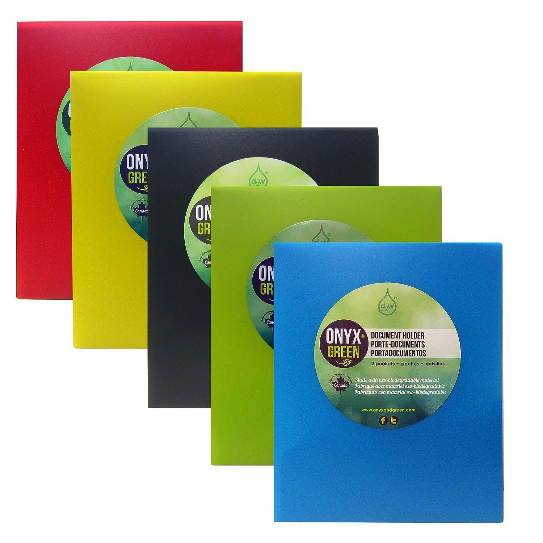 Onyx y verde - presentación carpetas, 2 bolsillos, fabricado en ...