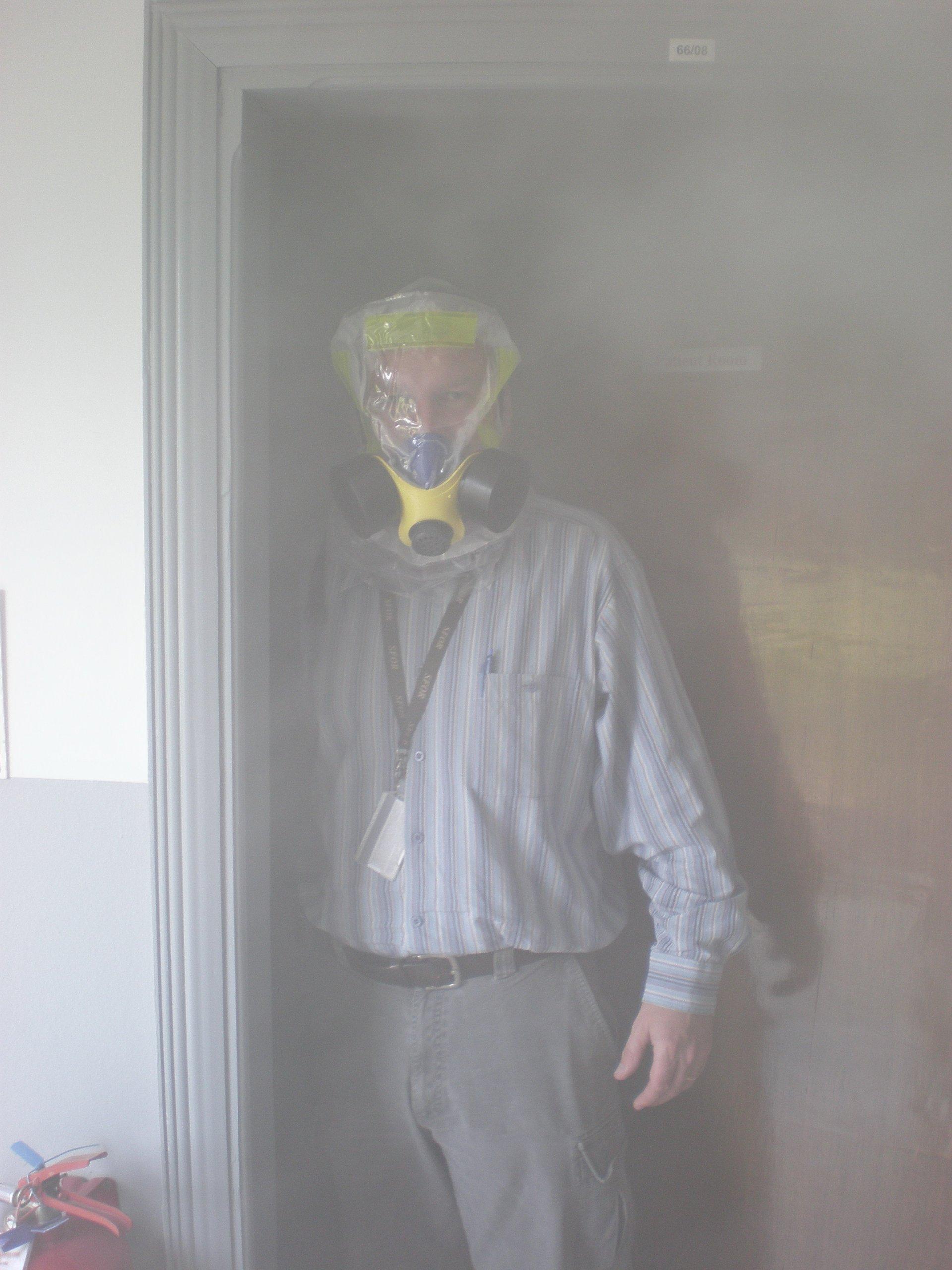 iEvac the only American Certified Smoke Hood/Fire Mask by Elmridge