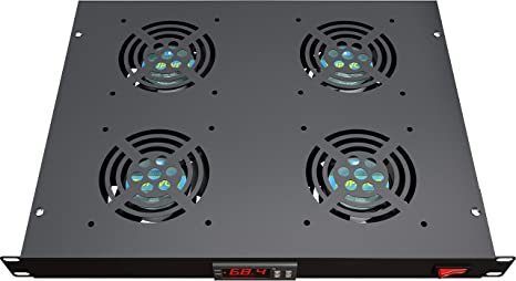 Ventilador de montaje en rack – 4 ventiladores sistema de enfriamiento de servidor – 1U 19 pulgadas rack