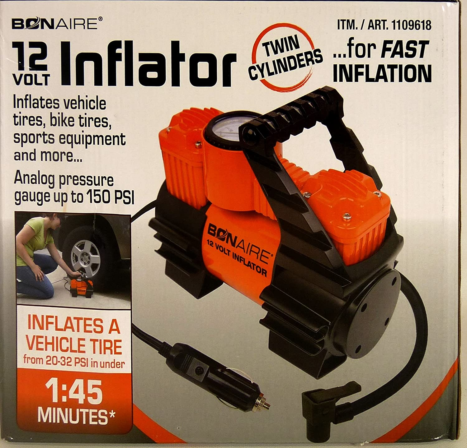 Bonaire Cordless Multi-Purpose 12v Cordless Inflator #TC12C (Orange) - - Amazon.com