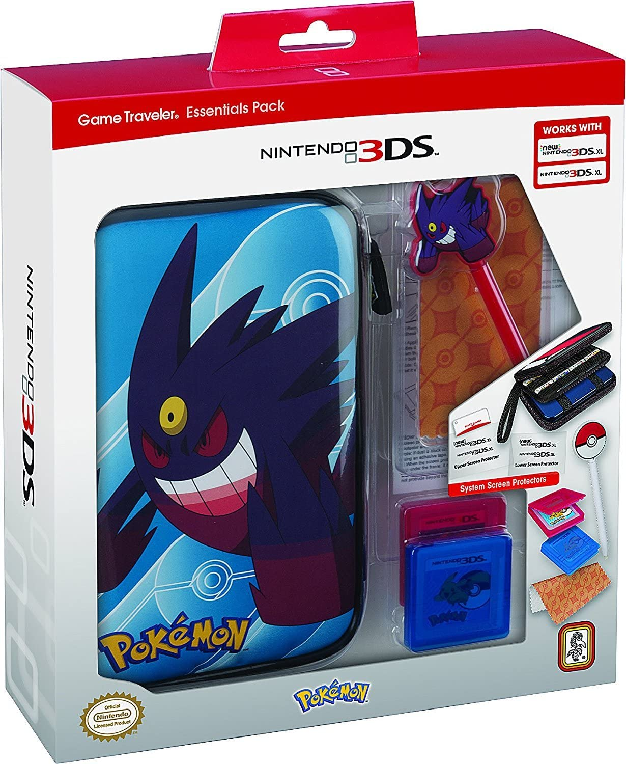 RDS Industries, Nintendo 3DS Game Traveler Essentials Pack - Blue with Mega Gengar by RDS Industries, Inc: Amazon.es: Videojuegos