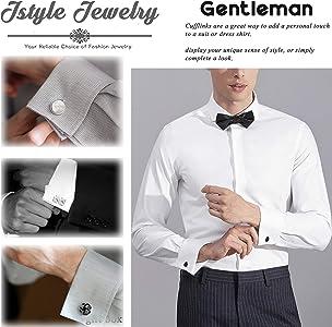 1X New Black Men Cufflink Box Storage Cuff Links Jewellery Holder Gentlemen Gift