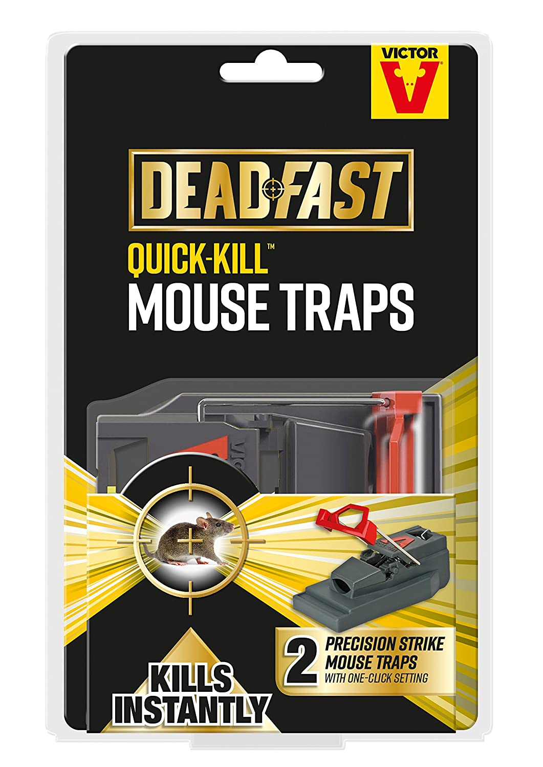 Deadfast Quick Kill Mouse Trap, Twin Pack Woodstream 20300399