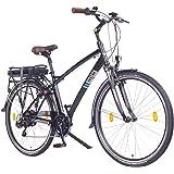 NCM Hamburg 36V, 28 Zoll Elektrofahrrad, Herren & Damen Pedelec, E-Bike City Rad, 13Ah 468Wh Lithium-Ionen-Akku & 250W Bafang Heckmotor, mit mechanischen Scheibenbremsen, schwarz