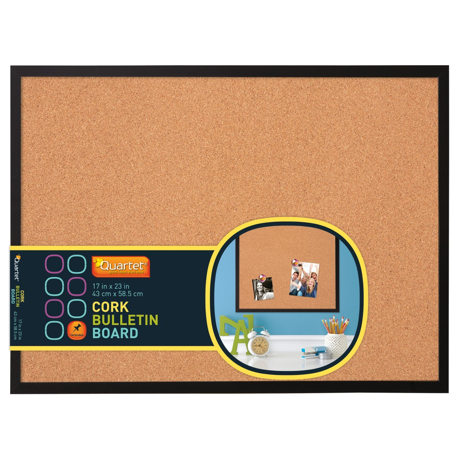 Cork Bulletin Board Amazoncom Quartet 17 X 23 Cork Bulletin Board Wood Frame