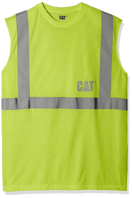 Big and Tall Caterpillarメンズ高視認性ノースリーブTシャツ B01ELTA7IA 3X Large|ハイビジビリティーイエロー(Hi Vis Yellow) ハイビジビリティーイエロー(Hi Vis Yellow) 3X Large
