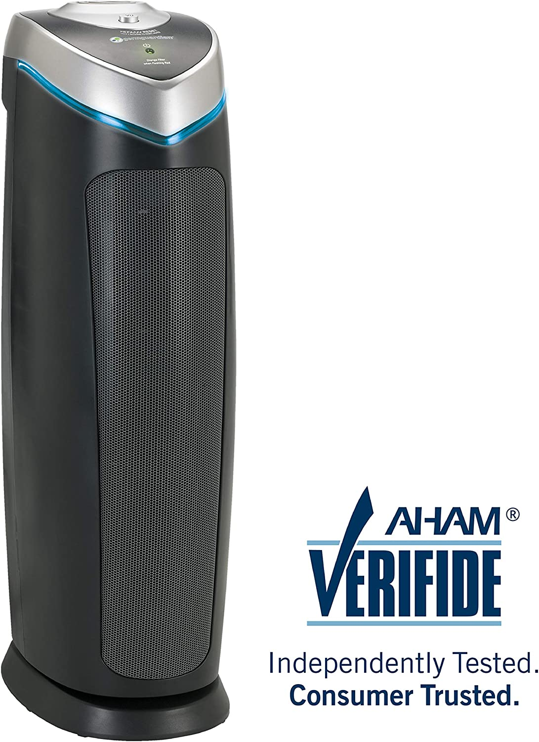 GermGuardian AC4825, 3-in-1 Air Cleaning System with True HEPA, UV-C and Odor Reduction, 22-Inch by Guardian Technologies