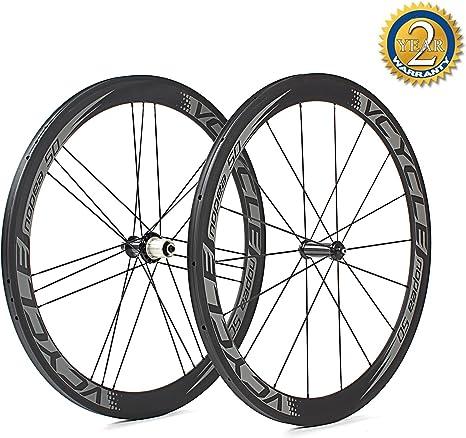 VCYCLE Nopea 700C Carbono Carreras Bicicleta Ruedas 50mm Tubular ...