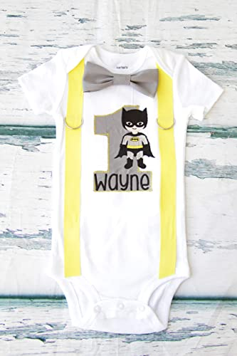243bff474 Image Unavailable. Image not available for. Color: Boy first birthday  Batman Super Hero themed First birthday Batman baby boy cake smash ...
