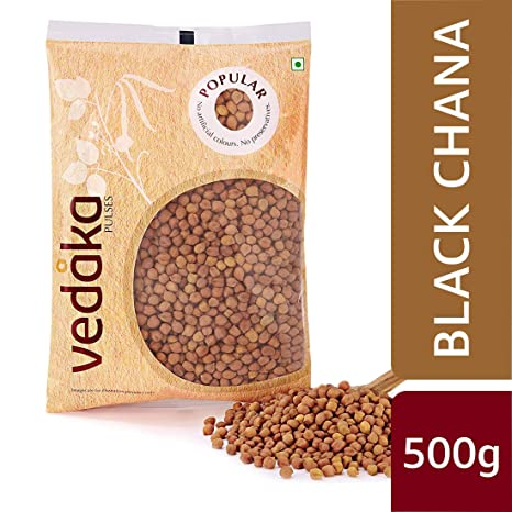 Amazon Brand - Vedaka Popular Black Chana, 500g