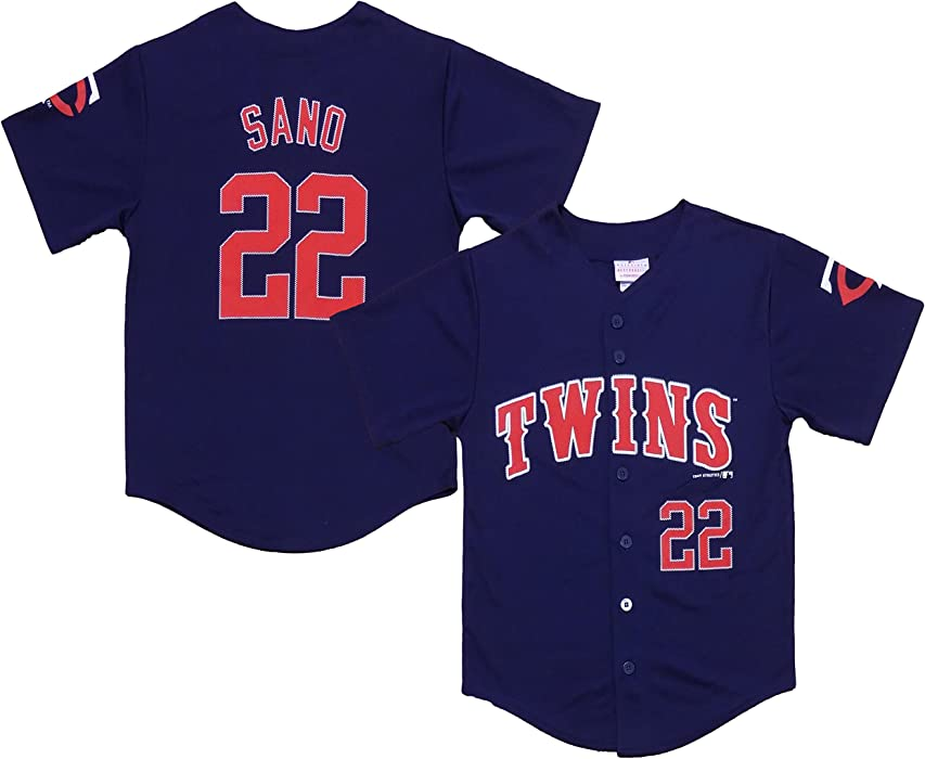 new arrivals 0d907 6a442 Amazon.com: Outerstuff Miguel Sano Minnesota Twins #22 Navy ...