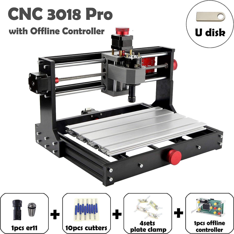 Upgrade CNC 3018 Pro Fr/äsmaschine Laser Graviermaschine 10W Lasermodul,Vogvigo Holz Router Kit GRBL Steuerung DIY Mini CNC Maschine 3D Graviermaschine Lasermodul