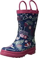 Winter Hatley Fall Winter 5-Field Flowers Girls' Rain Bootsd