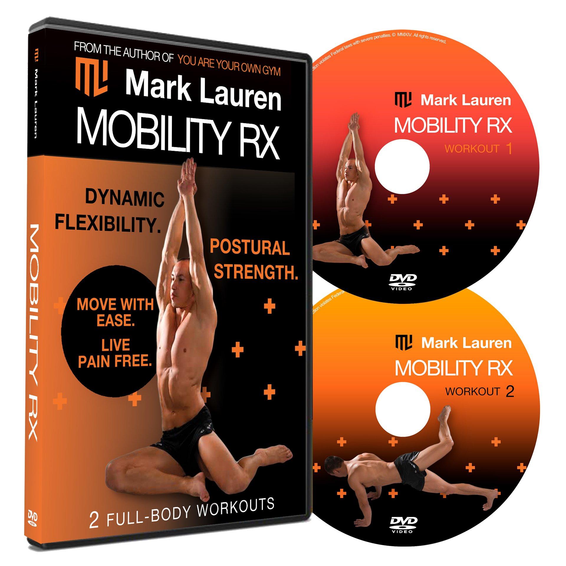 Mark Lauren Mobility Rx | Bodyweight Workout, Flexibililty, and Stretching DVD Set