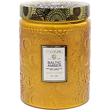 Voluspa Baltic Amber Large Glass Jar Candle Limited 16 oz