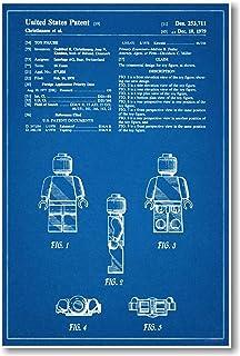 Amazon lego toy building block patent print art poster lego figure patent new famous invention blueprint poster malvernweather Choice Image