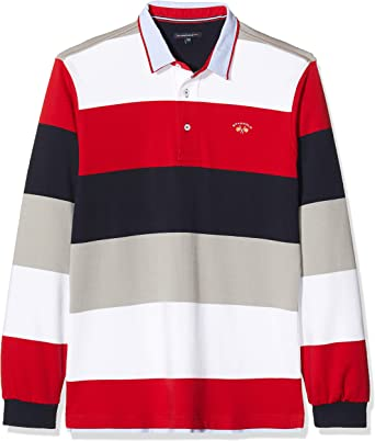Spagnolo 114101747015 Polo, Multicolor (Marino/Gris/Rojo), Medium ...