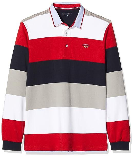 Spagnolo 114101747015 Polo, Multicolor (Marino/Gris/Rojo), Medium ...