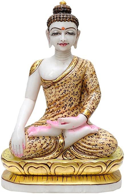 buy exotic india lord buddha white marble statue online at low