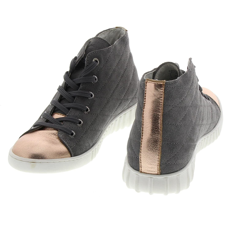 Marc Shoes Damen Echt Leder Schnür Boots Fabiola, Grau