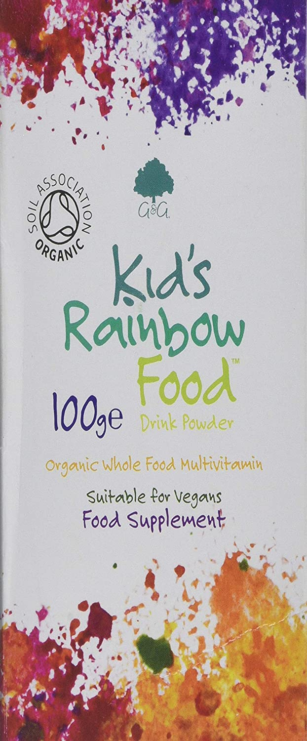 G&G Vitamins Kid's Rainbow Food – Organic Multivitamin Drink Powder 100g