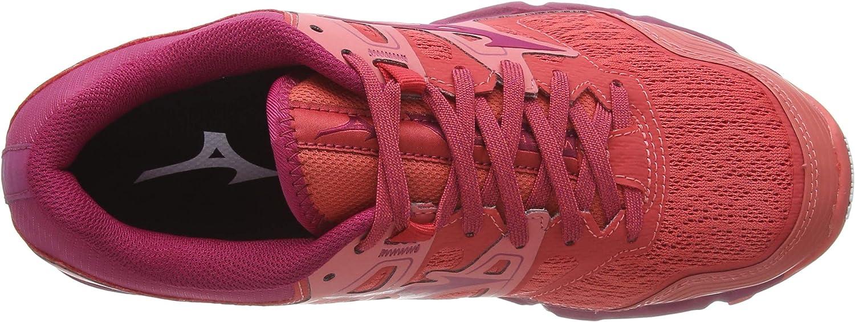 Mizuno Wave Hayate 6, Scarpe da Trail Running Donna Rosso Cayenne Cherriesjubilee 62