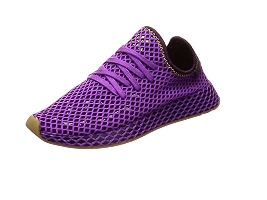 sale retailer cdd7a e59e6 adidas Originals Deerupt Runner, Shock Purple-Red Night-Shock Yellow, 4