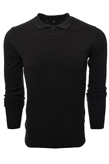 183e1694696b5 YoungLA Fitted Polo Dress Shirts for Men Long Sleeve Knitted Slim Fit Soft  Uniform Jerseys 412