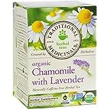 Traditional Medicinals Organic Chamomile with Lavender Herbal Tea - 16 Tea Bags - 95%+ Organic -