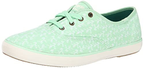 4007e5bebdcbb Image Unavailable. Image not available for. Colour  Keds Womens Champion  Botanical Leaves Fashion Sneaker ...