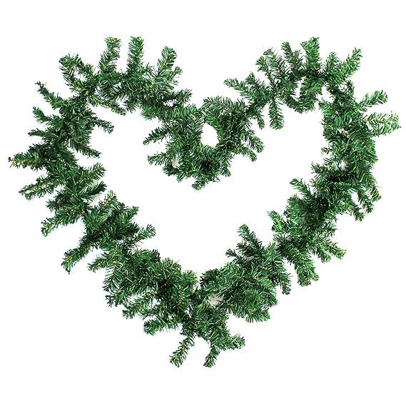 Künstliche Tannengirlande Girlande 270cm für Innen und Außen Weihnachtsgirlande Tannengrün künstlich