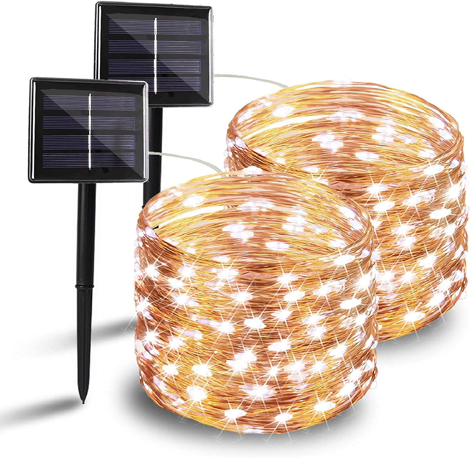 Outdoor Solar String Lights Copper Wire Fairy 100 200 300LED Light  Cool white
