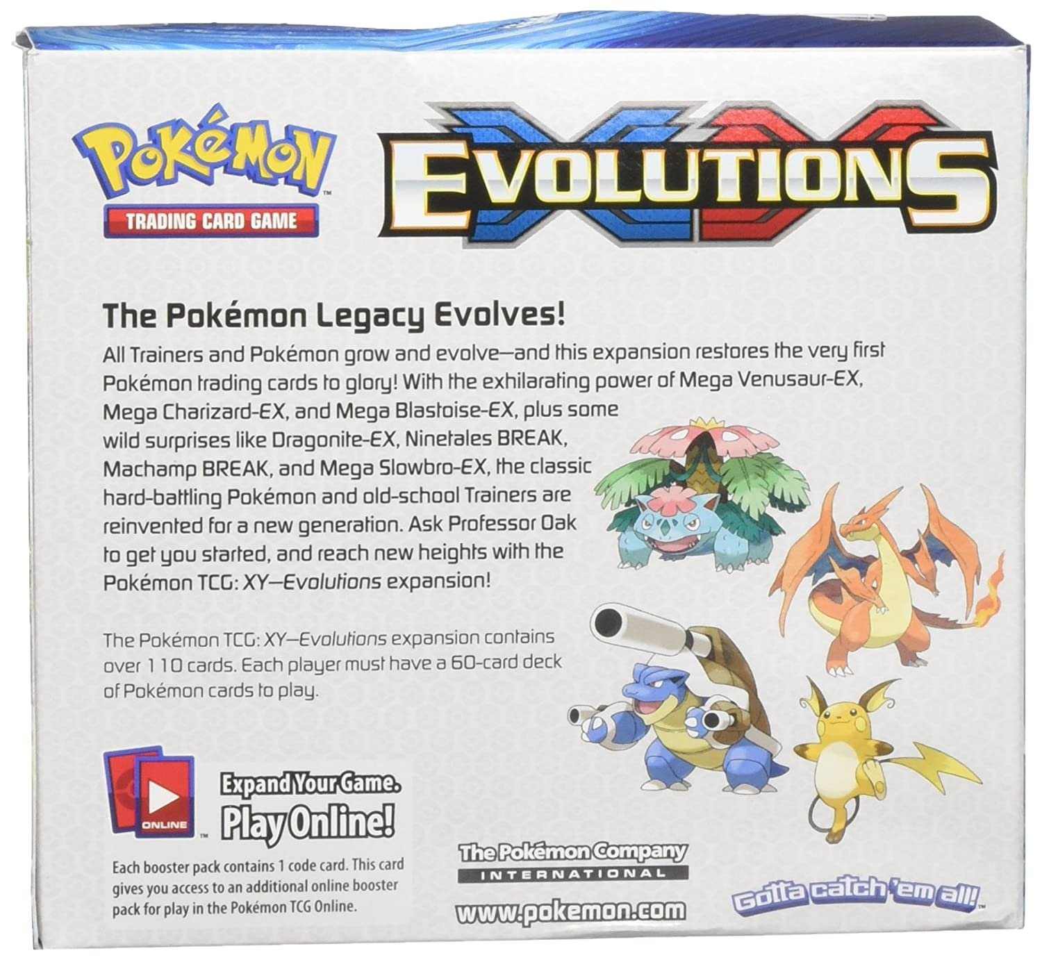 POKEMON XY EVOLUTIONS BOOSTER PACK CODE TRADING CARD GAME ONLINE TCG