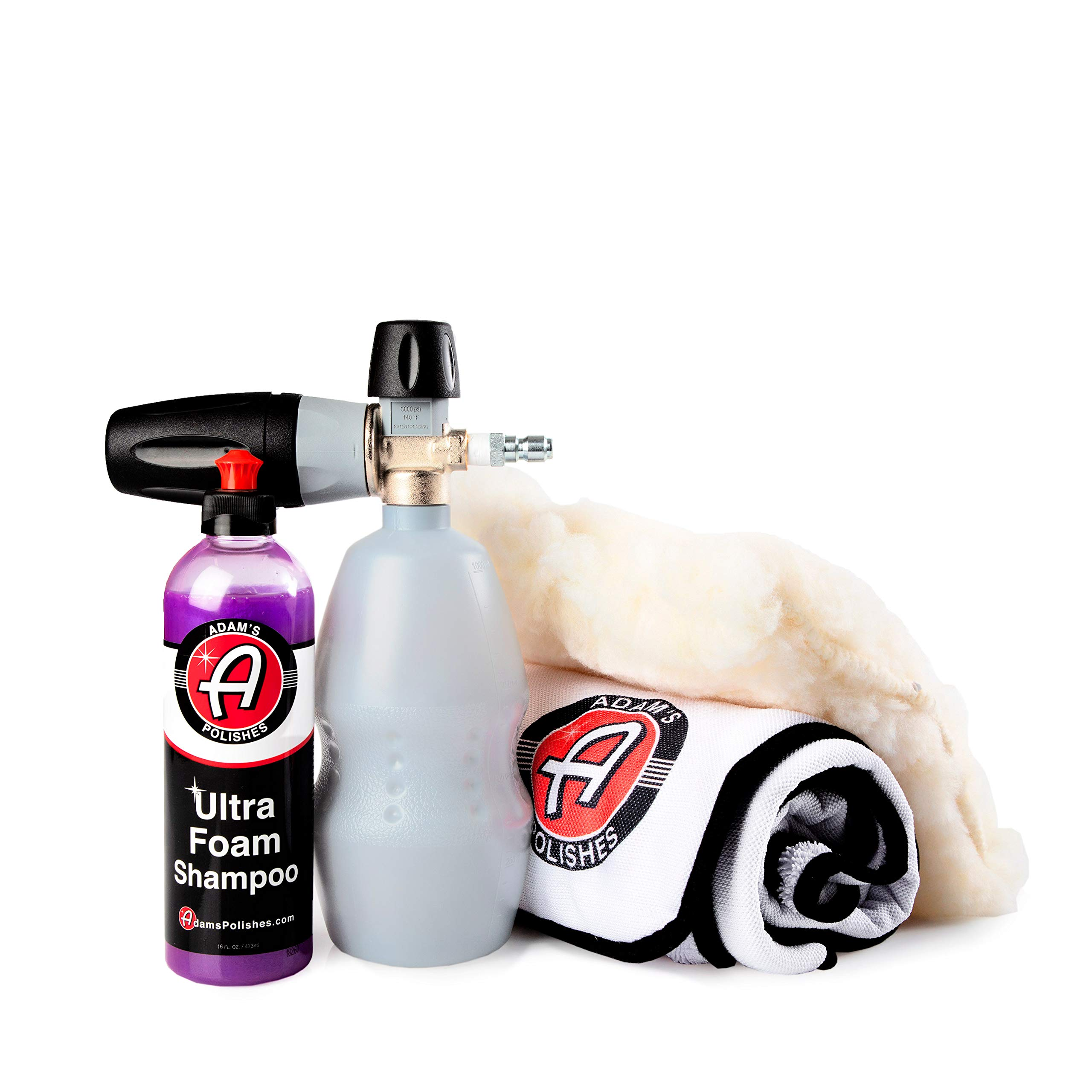 Adam's MTM Premium Foam Cannon Professional Foam Lance PF22 - Premium, Professional Grade Snow Foam Cannon Creates Thick Suds for Safe Washing - Attaches to Pressure Washer (Ultra Cannon Kit)