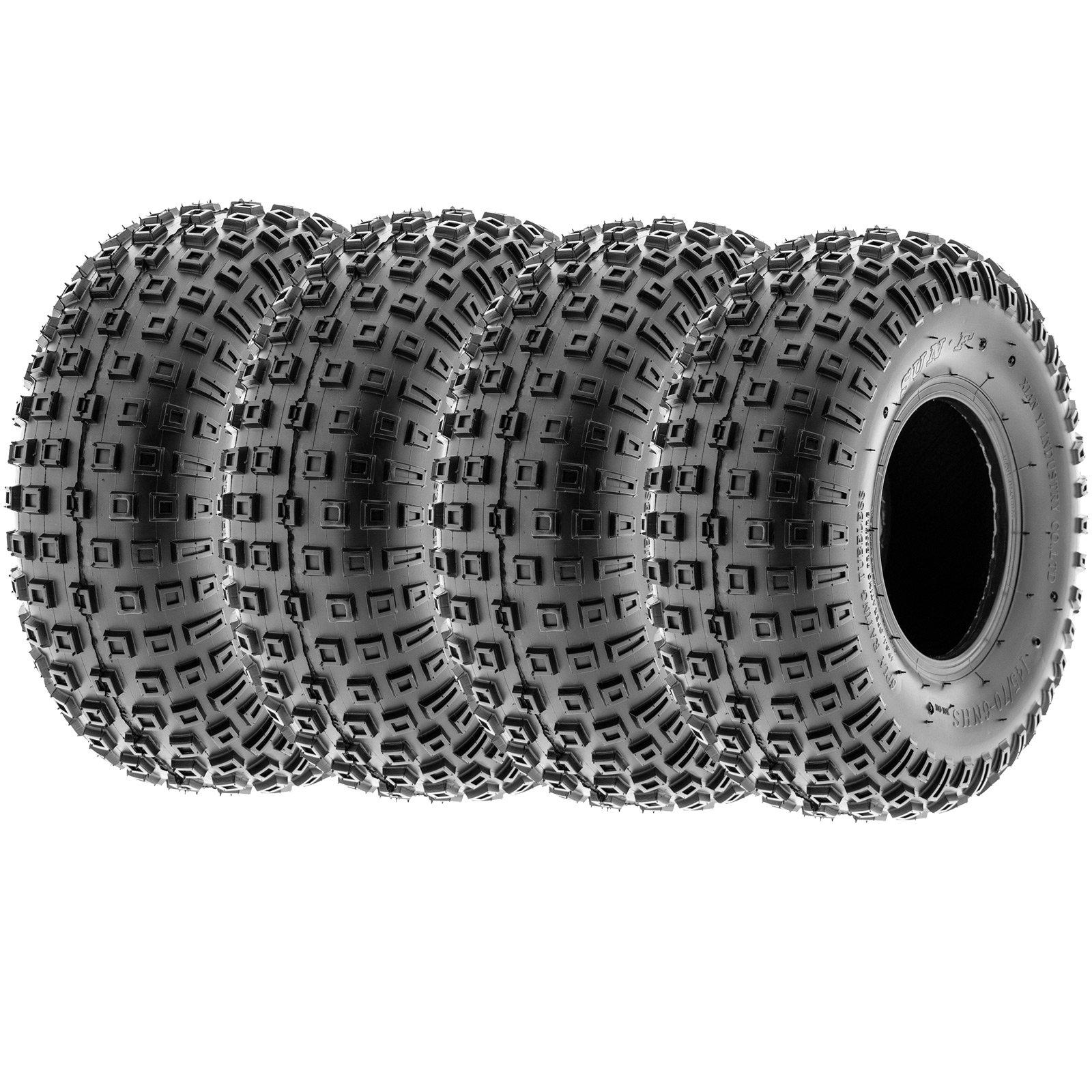 SunF Knobby Go Kart / ATV Tires 145/70-6 145/70x6 4 PR A011 (Full set of 4)