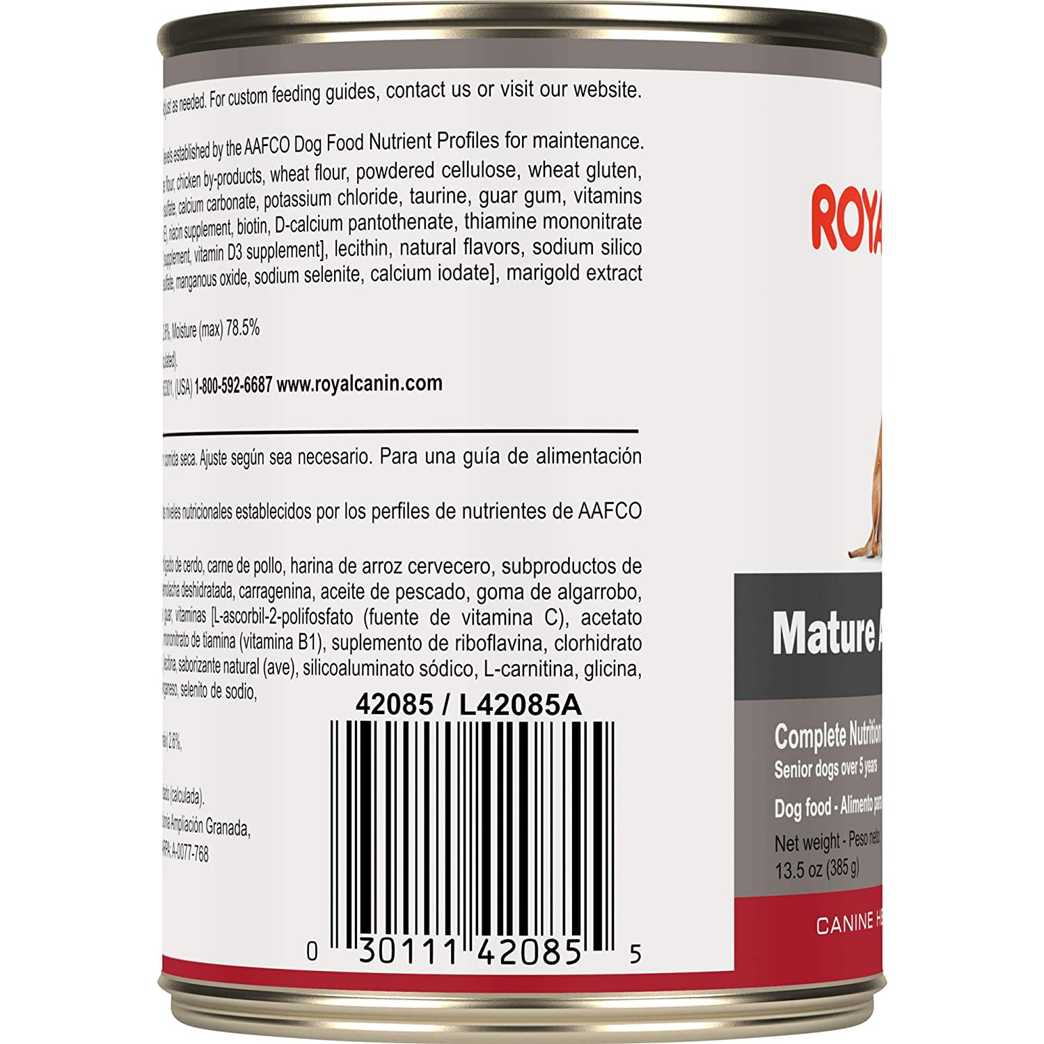 Royal Canin Canine Health Nutrition Mature Adult In Gel Canned Dog Food (Case Of 12/1), 13.5 Oz: Pet Supplies: Amazon.com