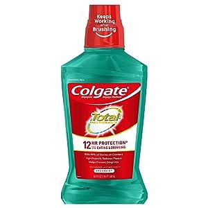 Colgate Total Pro-Shield Alcohol Free Mouthwash, Spearmint - 500mL, 16.9 fluid ounce
