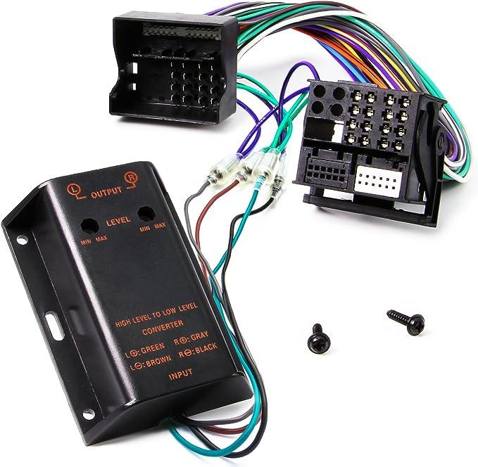 Adapter-Universe adaptador Cable alargador con enchufe amplificador doble canal antena de radio para coche para BMW VW negro
