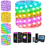 Smart String Lights Work with Alexa Google Home APP Scene Control Warm White ICRGB Color Changing 33Ft Led Fairy Lights Plug