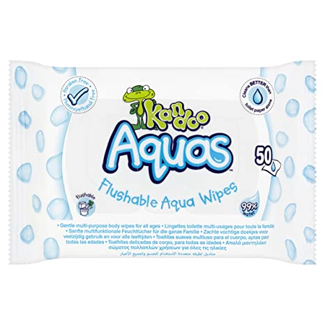 Kandoo Aquas Flushable Aqua toallitas