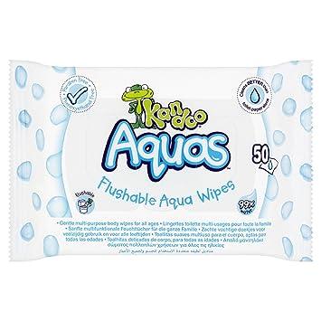 Kandoo Aquas Flushable Aqua toallitas: Amazon.es: Salud y cuidado personal